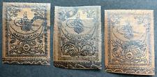 TÜRKEI  3 gestempelte Marken der ersten Ausgabe aus einer alten Sammlung