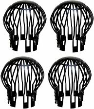 Homekit 4 Pack Black Plastic Balloon Gutter Guards – Leaf Debris Downpipe Covers
