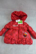 Toddler Puffy Hoodie Coat Winter Jacket Girls 18 M Elmo Red Sesame Street New