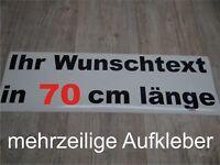 Wunschtext Aufkleber Auto Domain Beschriftung Schriftzug 70cm mehrzeilig !