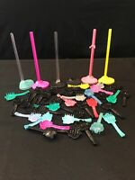 Monster High Doll Stands & Bases huge Lot with  brushes