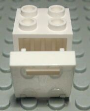 Lego Schrank 2x2x2 Weiss mit Weisser Tür                                 (563 #)