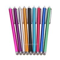 Metal Mesh Micro Fiber Tip Touch Screen Stylus Pen For iPhone Samsung Tablet PC