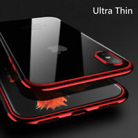 Ultra-thin Clear Phone Case for iPhone XS Max X XS XR Flexible Shockproof Cover