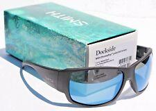 SMITH OPTICS Dockside POLARIZED Sunglasses Matte Black/Blue Mirror ChromaPop NEW