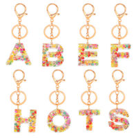 Alphabet Fruits Keyring A-Z Initials Letter Key Ring Coloful Key Chain A-Z 1PC
