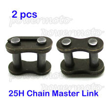 2x 25H Chain Spare Master Link For 33 43 47 49cc MiniMoto Kids ATV Gas E Scooter