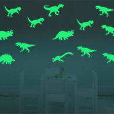 9Pcs Glow in the Dark Luminous Dinosaurs Stickers Kids Room Wall Art Decor HLCA