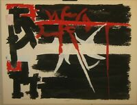 Rare 1950s ANGELO SAVELLI Abstract Expressionist ABEX Signed Lithograph - Listed