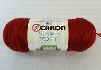 315 yds (6 oz) New Skein Caron Simply Soft Yarn Autumn Red 100% Acrylic 4 Medium