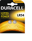 2 piles bouton LR54 Duracell Pile AG10 alcaline