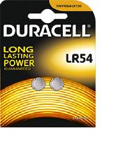 2 piles bouton LR54 Duracell Pile AG10 alcaline J89/KA54/LR1130 Validité 2019