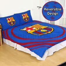 OFFICIAL FC BARCELONA PULSE DOUBLE DUVET COVER SET KIDS ADULTS REVERSIBLE