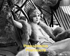 POLA NEGRI 8X10 Lab Photo '20s STUNNING SILENT ERA BEAUTY Fur Coat & Pearls