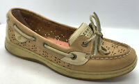 Sperry Top-Sider Womens Loafer Sz 7M Tan Leather Angelfish Boat Shoes 9265943