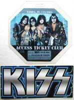 Kiss Concert Laminate Pass w/ Promo Card Rock the Nation Tour 2004 Tampa