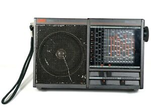 Vintage Philips D1835 Compass Short Wave Radio 9-Bands RARE Works!