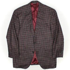Patrick James Mens Sport Coat 40R Gray Check Wool Silk Linen Cashmere Loro Piana