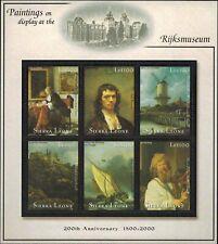 MODERN GEMS -Sierra Leone - Rijksmuseum 200th Anniversary III - Sheet of 6 - MNH