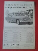 RECORTE DE PRENSA REVISTA O PERIÓDICO ADVERTISING PRESS VINTAGE SIMCA CHRYSLER..