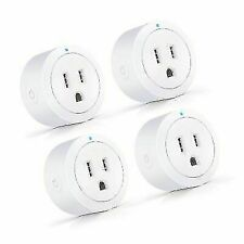 Esicoo Wi-fi Smart Plug Socket Outlet Timer - White, Pack of 4, (Esc-001-0015)