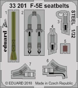 Eduard Zoom 33201 1/35 Northrop F-5E Tiger seatbelts STEEL Kitty Hawk