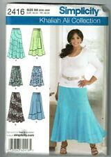Simplicity # 2416 OOP Khaliah Ali Skirts w/Variations Patterns Sz 20W-28W UC