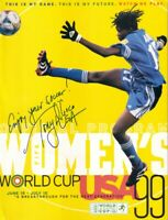 Tony DiCicco autographed signed 1999 Women's World Cup WWC program inscribed USA