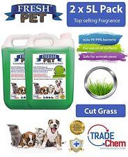 2 x 5L FRESH PET URINE SMELL ODOUR REMOVER - Cut Grass Fragrance - TRADE Chem