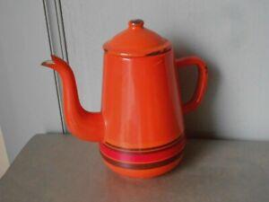 1960s Vintage French Enamelware COFFEE POT