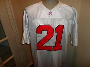 Vtg SEWN Throwback Authentic Atlanta Falcons #21 Deion Sanders NFL Jersey Sz 52