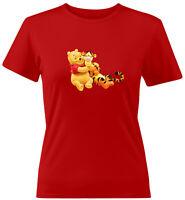 Winnie the Pooh Bear and Tigger Friend Disney Girls Juniors Women Tee T-Shirt