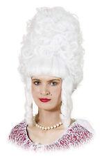 White Lady Pompadour Parrucca Natale Christmas Panto Costume Accessorio p10025