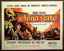 """CHINA GATE (1957) Rolled 22x28 - Gene Barry, Angie Dickinson, Nat """"King"""" Cole"""