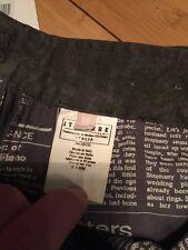 NEW Authentic Rare John Galliano Htf Men 50 M L Italy Trouser Pants Jean Black