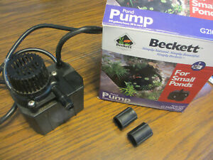 Beckett Submersible Small Pond Pump 210 gpm 20 Ft Cord Versa Gold G210AG20 USA
