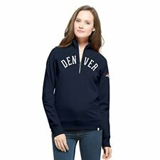 '47 NFL Denver Broncos Women's Cross Check 1/4-Zip Pullover Jacket, Large, Mi...