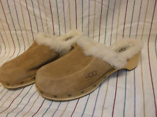 UGGS TAN SUEDE SHEEPSKIN FUR LINED CLOGS # 5426 KALIE SIZE 7 M