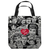 I Love Lucy TV Show MANY FACES of Lucille Ball Tote Bag Many Sizes