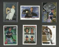 CHIPPER JONES Atlanta Braves HOF Lot 6 vtg Baseball Cards 1993 Rookies Holograms