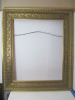 Stunning Large Gold Ornate Picture Frame Maple Leaf Pattern approx 38 x 32 x 2""