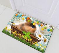 Cute Rabbit Easter Eggs Home Floor Rug Bedroom Carpet Porch Kitchen Rug Bath Mat