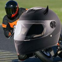 Corne Démon Noir Accessoires Décor Décoration Casque Protection Intégral Moto