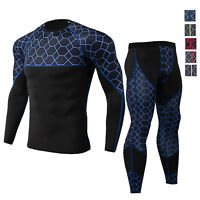 Men's Sports Legging Shirt Quick-dry Compression Gym Moisture Wicking Base layer