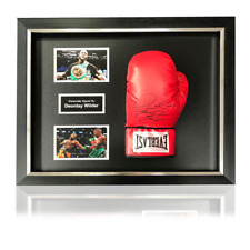 Deontay 'Bronze Bomber' Wilder Signed Red Everlast Boxing Glove in Deluxe Classi