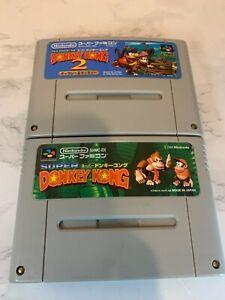 Nintendo Super Famicom Donkey  Kong + Donkey  Kong2 Japan import lot of 3