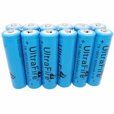 12X 18650 Batería Li-Ion 5000mAh 3.7V baja de drenaje Recargable Linterna UK botón superior