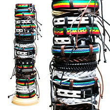 25 Piece Assorted Adjustable Leather Bracelets
