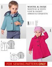 BURDA SEWING PATTERN! MAKE FLEECE JACKET~COAT! BOY~GIRL CLOTHES! BABY~TODDLER