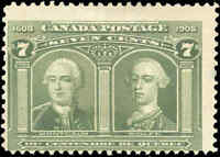 Used Canada 1906 7c F Scott #100 Quebec Tercentenary Issue Stamp